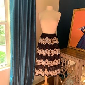 Black and Ivory lace overlay skirt